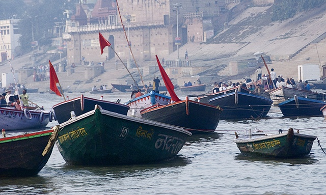 Morning Boats on the Ganges, Varanasi