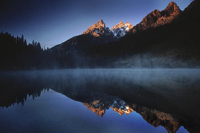 Morning, Tetons and Spring Lake, Grand Teton National Park, WY