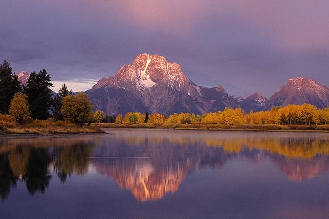 Morning Light, Mount Moran, Grand Teton National Park, WY
