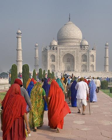 Pilgrims at Taj Mahal, Agra