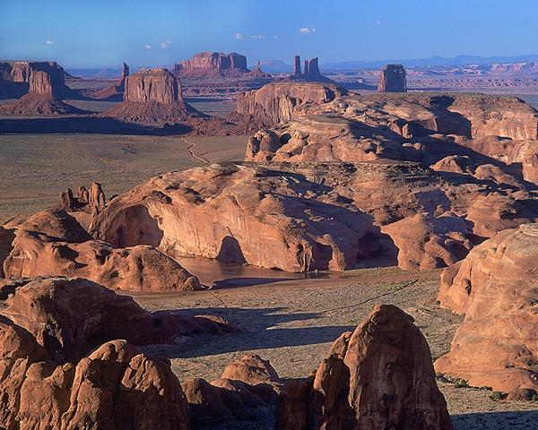Monument Valley from Hunt's Mesa, Navajo Tribal Park, Arizona