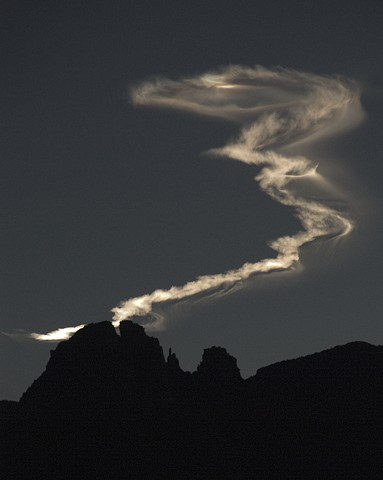 Magical Vapor Over Finger Rock