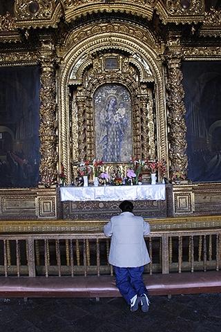 Woman Praying, Cusco Cathedral