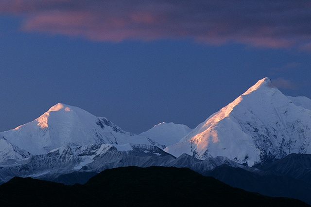 First Light, Alaska Range, Denali National Park, AK