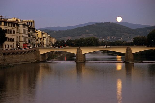 Moon Over the Arno, Florence