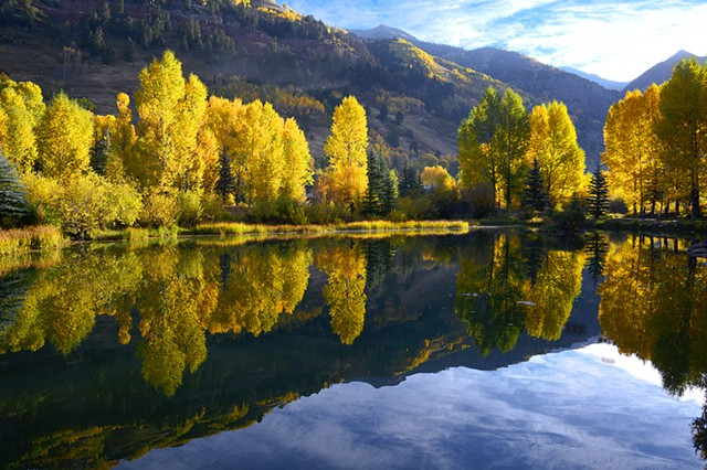 Morning, Telluride Pond, San Juan Mountains, CO