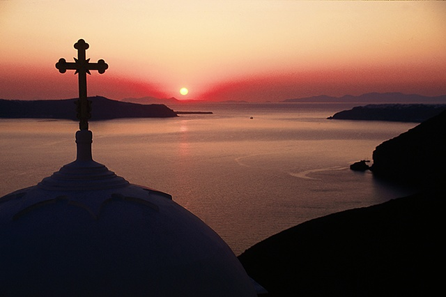 Church at Sunset, Santorini