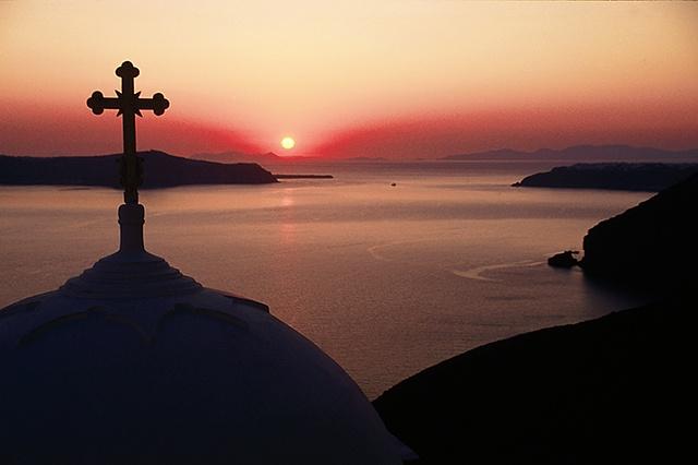 Church at Sunset, Santorini