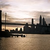 Manhattan and Brooklyn Bridge at Dusk