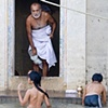 Man With Children Bathing
