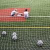 New York University Soccer Team Stretching