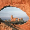 Turret Arch through North Window, Arches National Park, Utah