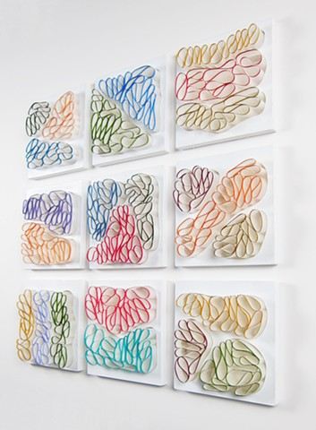 Abstract paper sculptures