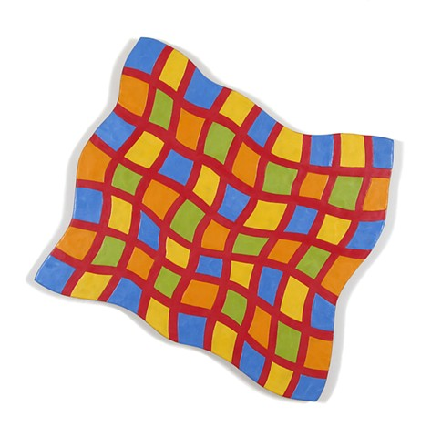 Abstract painting in checkered pattern