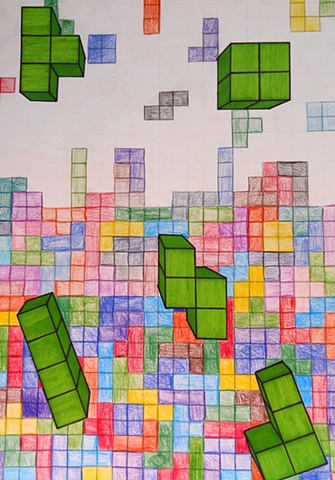 Perspective with Tetris