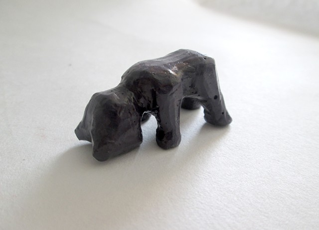Mini Plaster Carving: Bear Cub