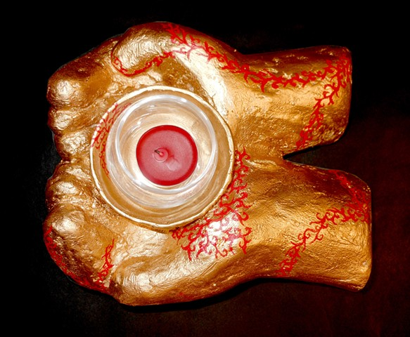 Body Casting: Plaster Hands - Candle Holder