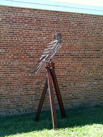 falcon steel welding sculpture