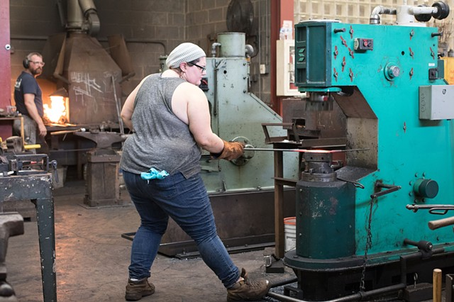 Forging at Penland, NC