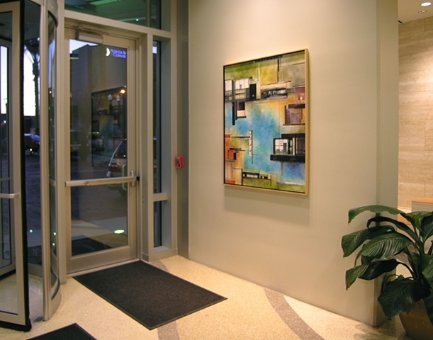 Vue Condominiums Orlando Site specific commission - Entry lobby