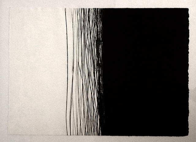 Dry point intaglio print.
