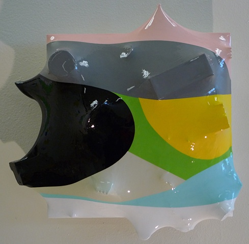 hard edge, resin, geometric, joel morrison, jeff koons, green art, peter halley, conceptual