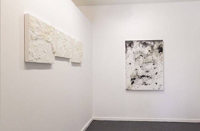 state, installation image, September 2017 Yellow Blood Salt (right) and Panta Rhei (left)