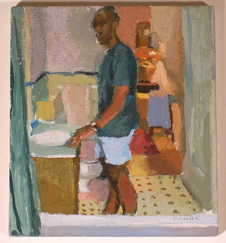 Self Portrait in Bathroom