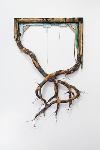 Frame with Branches and Bark