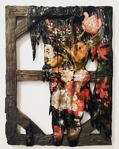 Broken Painting (Flowers)
