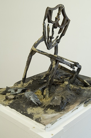 Seascape: Early American Chair (Mud Pedestal)