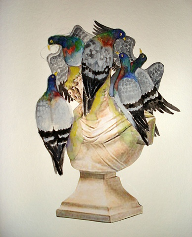 Bust with Pigeons