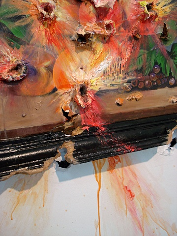 Exploding Peaches (with Frame) (detail)