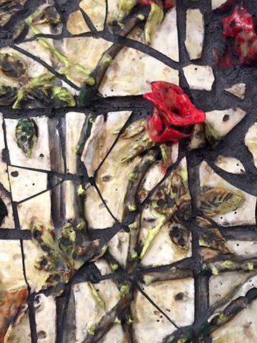 Broken Rosebush (detail)