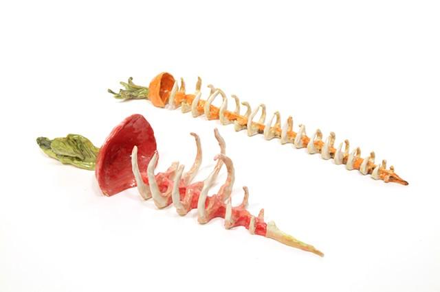 Radish Skeleton and Carrot Skeleton