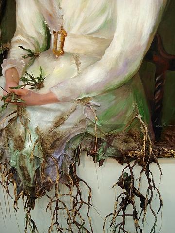 Woman in White (detail)