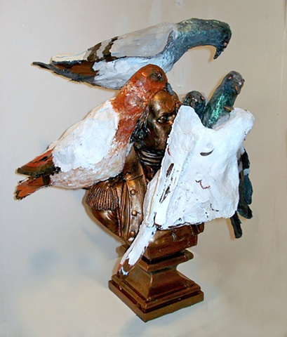 Small Bust with Pigeons