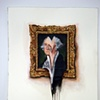 George Washington Portrait on Wall Melted