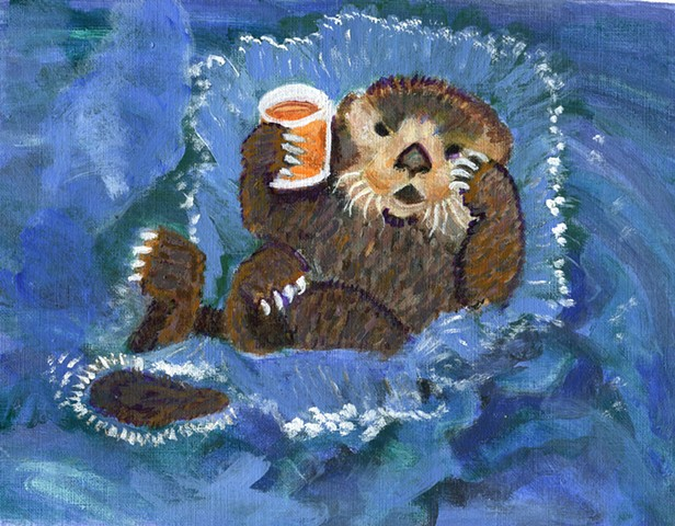 See otter shows fuzzy navel