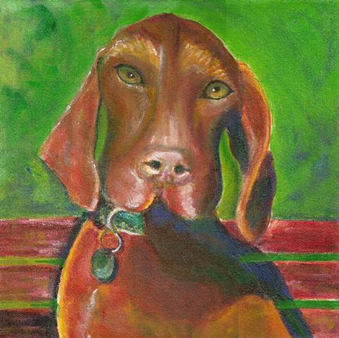 Vizla painting, custom