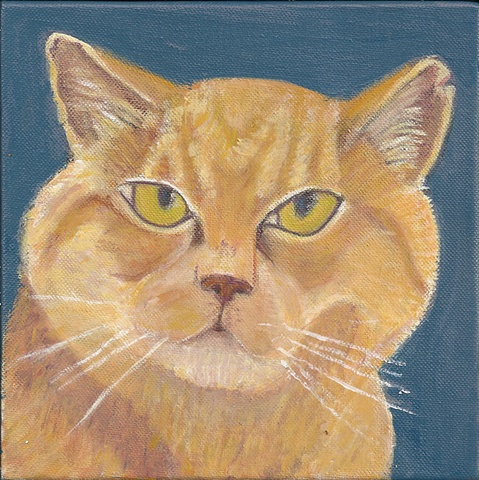 orange tabby cat painting CUSTOM
