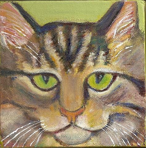 custom tabby cat painting
