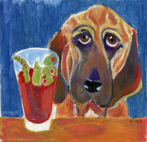 Bloodhound with bloody mary