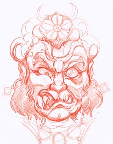 Fudo rough sketch