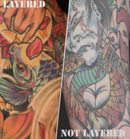 LAYERING vs STANDARD Eric Cooper San Diego Tattoo Denver Colorado art, Hawaii art, guru.
