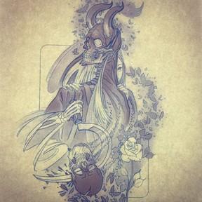 Death's shadow sketch