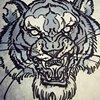 tiger hand sketch