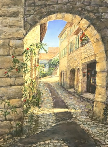 Narrow Street of Vaison-la-Romaine