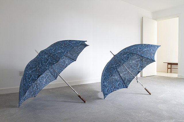 lauren hall glasgow international umbrella sculpture