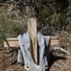 Shrine for a migrant, who died here July 8, 2008, while attempting to cross the Mojave Desert.